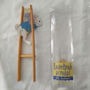 Easter Parade Acrobat Toy Bunny Rabbit Wood Paper